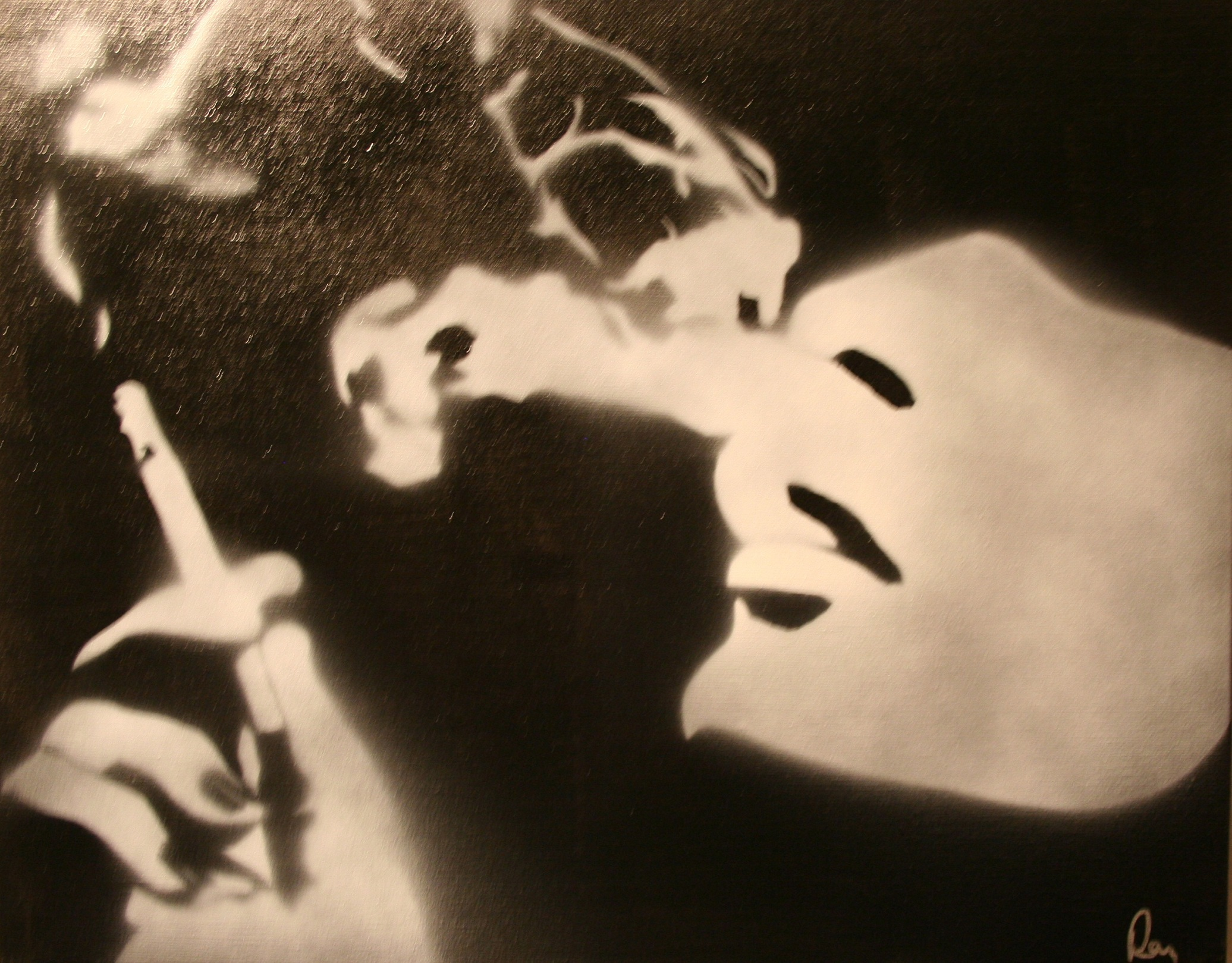 smoking ray ferrer emotion on canvas