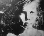Young Girl - By Ray Ferrer (Spray Paint on Canvas)