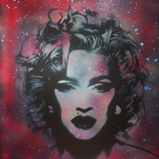 """Borderline"" Ray Ferrer - 2013 20"" x 16"" Mixed Media on Canvas"