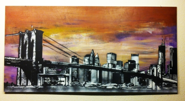 """New York State of Mind"" Ray Ferrer - 2013 Spray Paint  4ft x 2ft"