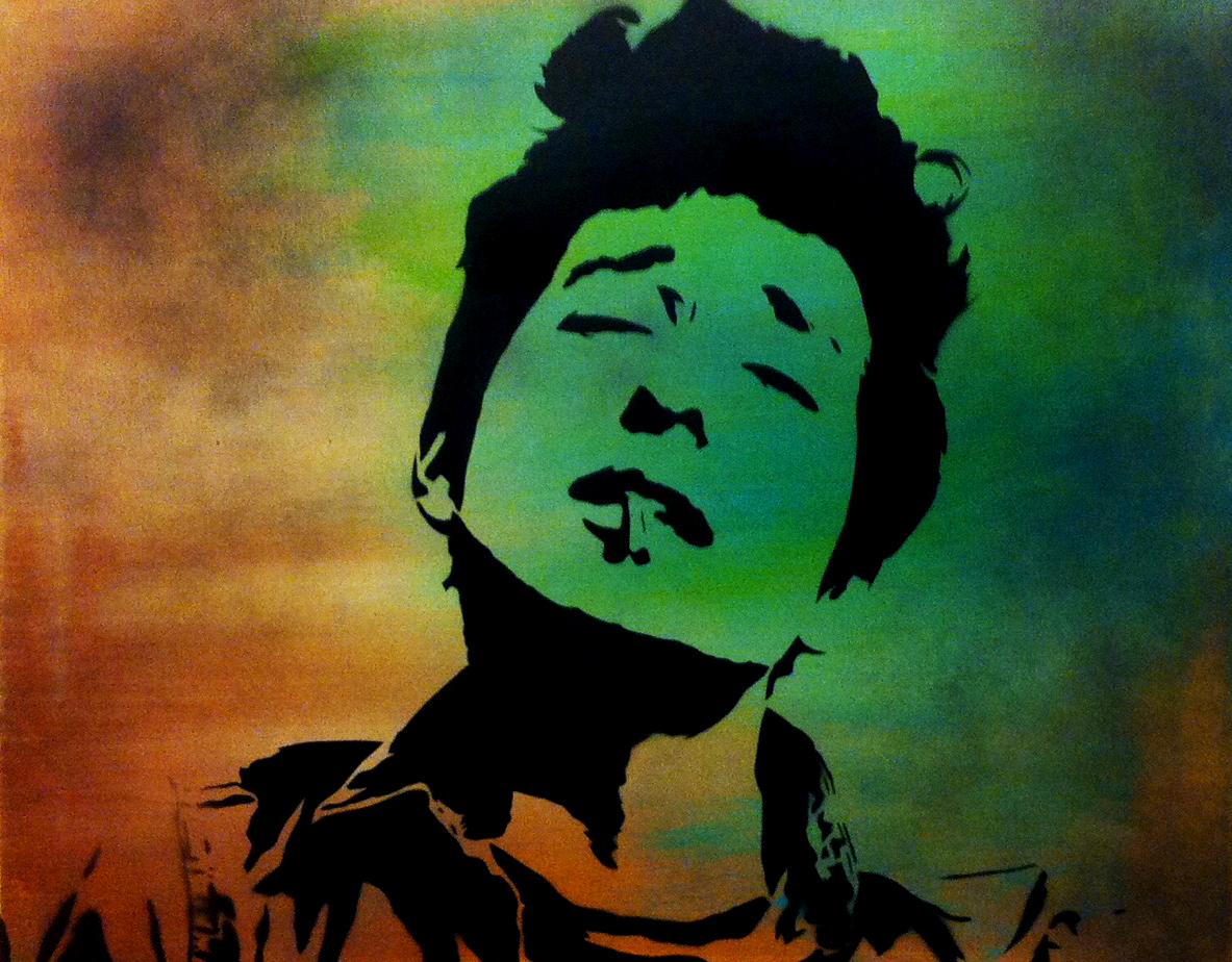 Bob Dylan Spray Paint On Canvas By Me Ray Ferrer